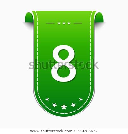 Numara vektör yeşil web simgesi dizayn web Stok fotoğraf © rizwanali3d