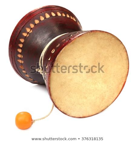 Banglades hangszer fa művészet bőr fehér Stock fotó © bdspn