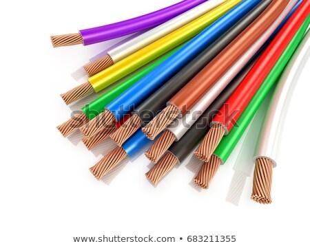 проводов · власти · высокое · напряжение · электростанция · Blue · Sky · технологий - Сток-фото © Phantom1311