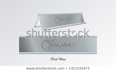 name plate on wall Stock photo © get4net