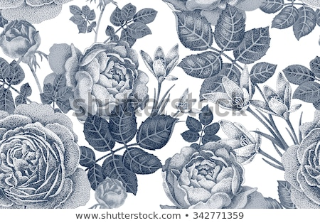 Floral designs in black colors Stock photo © bluering
