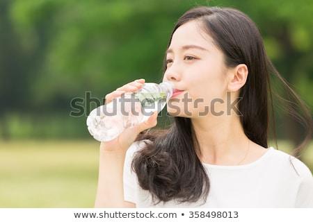 Femminile bevanda calda prato donna alimentare divertimento Foto d'archivio © IS2