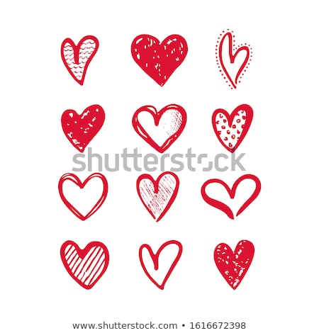 collection of various love heart symbol shapes stock photo © orson