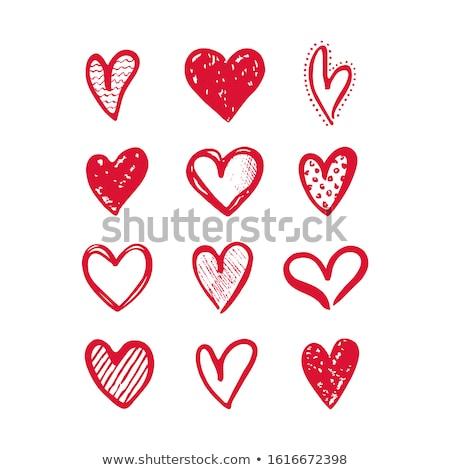 vettore · raccolta · rosso · cuore · forme · isolato - foto d'archivio © orson
