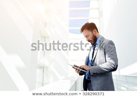 gülen · erkek · doktor · dijital · tablet · genç · beyaz - stok fotoğraf © wavebreak_media
