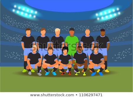 Groep team voetbaltoernooi Rusland vector kunst Stockfoto © vector1st