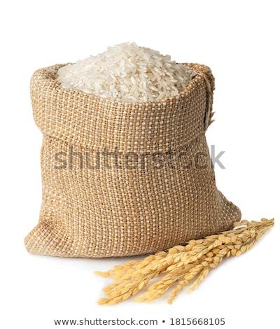 Táska köteg fehér hosszú rizs ki Stock fotó © Digifoodstock
