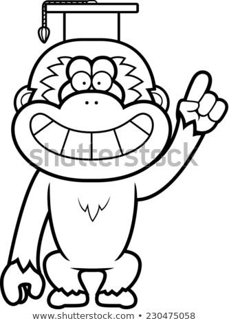 漫画 教授 実例 キャップ 教師 笑みを浮かべて ストックフォト © cthoman