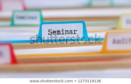 Fichier dossiers séminaire affaires succès documents Photo stock © Zerbor