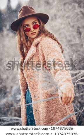glamor young blonde posing in winter stock photo © acidgrey