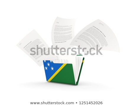 Folder with flag of solomon islands Stock photo © MikhailMishchenko