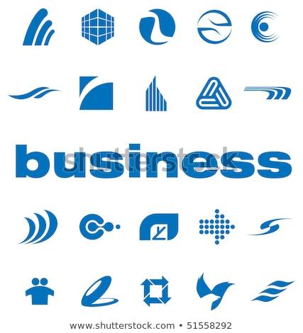 Turbinio spirale tech logo onda icona Foto d'archivio © blaskorizov