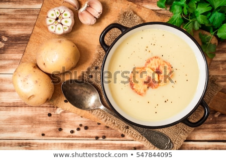 ニンニク スープ 食品 ホーム カップ ストックフォト © joannawnuk
