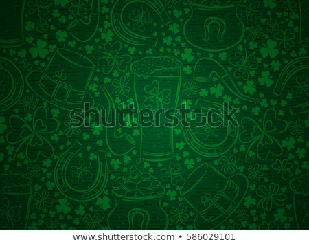 Stock photo: beer mugs st patricks day background