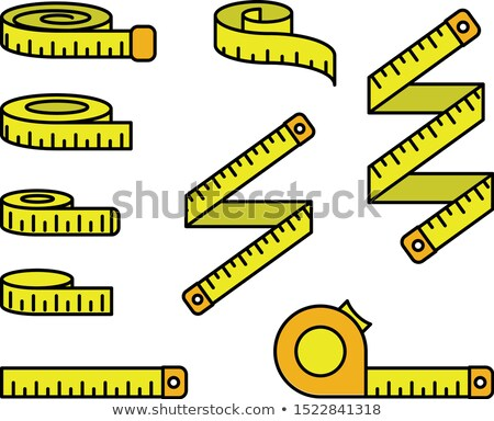 Stock photo: Measuring tape icons - reel, tape measure and bobbin, diet and l