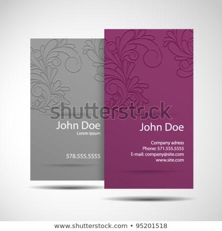 stylish blue elegant business card design Stock photo © SArts
