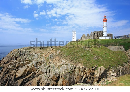 The ruins of the abbey of Saint-Mathieu and the lighthouse in Fr Stock photo © tilo