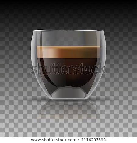 прозрачный стекла горячей кофе пить Сток-фото © dariazu