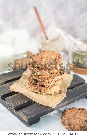 スタック 新鮮な 燕麦 クッキー 素朴な ストックフォト © marylooo