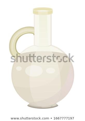 White Liquid Used in Cosmetic, Coconut Milk or Oil Stock photo © robuart