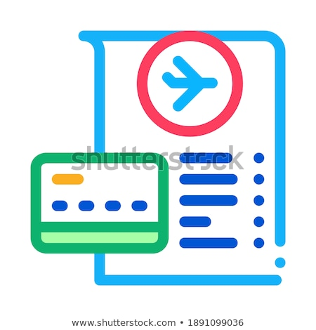 card for payment and check in duty free icon vector outline illustration Stock photo © pikepicture