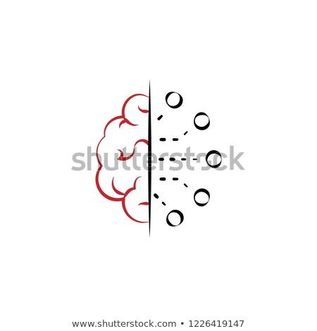 Virtual cloud icons Set 2 Red Stock photo © fenton