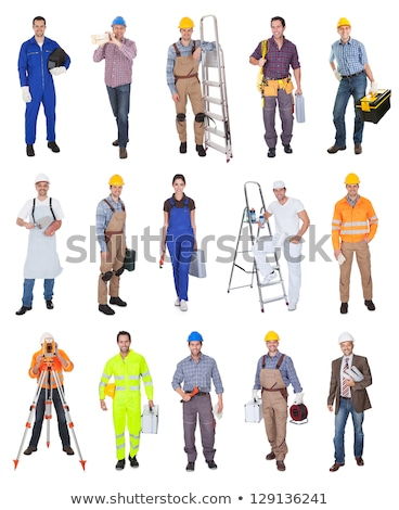 Smiling workman on white background Stock photo © photography33
