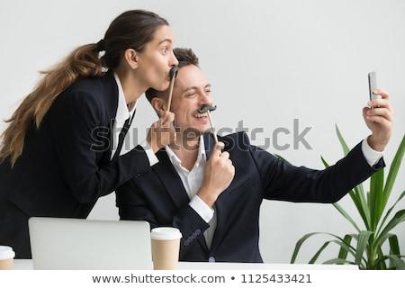 Werk collega's dom gezichten business Stockfoto © photography33
