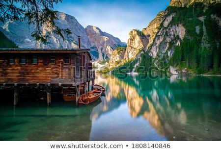 sombras · lago · belo · alto · montanhas - foto stock © wildnerdpix