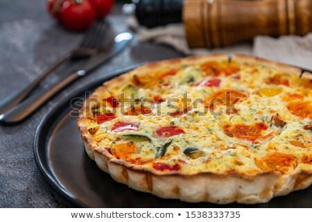 gourmet cherry tomato quiche Stock photo © M-studio