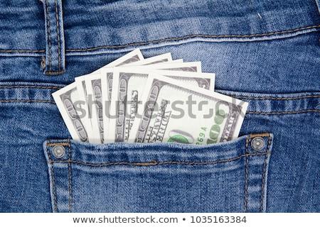 Dollár farmernadrág zseb hát üzlet divat Stock fotó © vlad_star