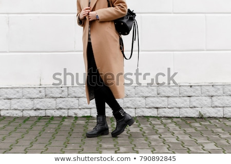 detail of woman wearing fashionable black clothes stock photo © phbcz
