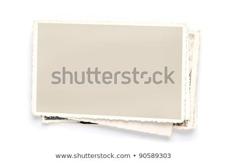 quadro · branco · madeira · isolado · fundo - foto stock © inxti