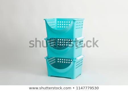 Stock fotó: Műanyag · raktár · doboz · műanyag · tároló · izolált · fehér