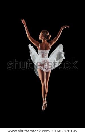 Danser wijzend naar schoenen portret moderne Stockfoto © feedough