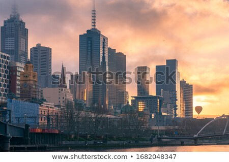 Stock foto: Melbourne · Morgen · schauen · Stadt · Business