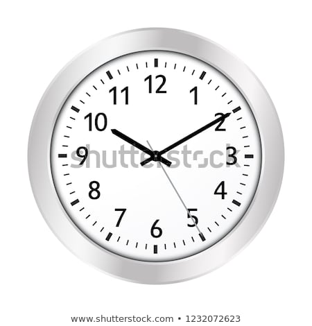 silver wall clock with black face stock photo © fotoscool