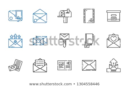 Vektor ikon postaláda ősz Stock fotó © zzve