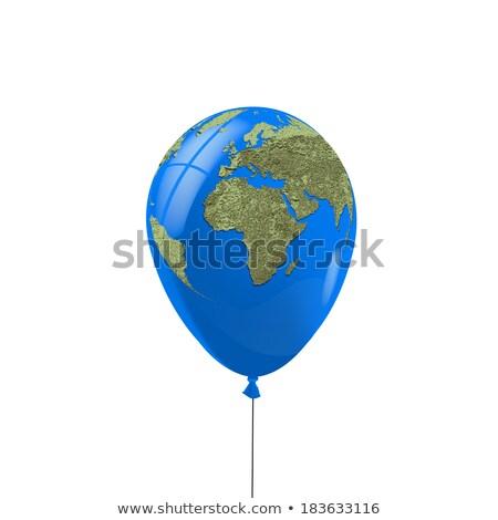 вечеринка красный шаре пространстве земле мира Сток-фото © donskarpo