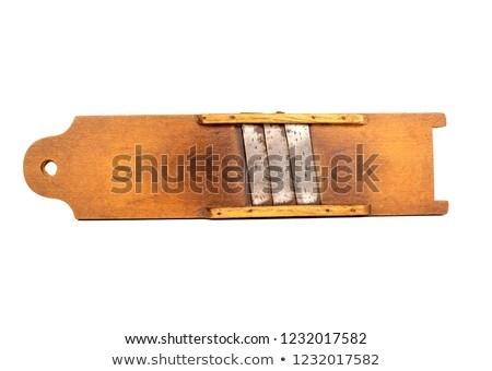 old rusty grater isolated on white background stock photo © leonardi