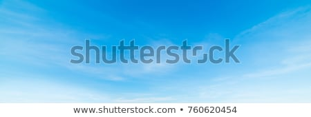 Blue beautiful sky with white clouds view in sunny day stock photo © lunamarina