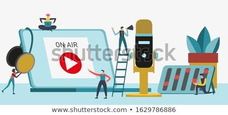 Fejhallgató mikrofon zenei stúdió mutat szórakoztatás Stock fotó © stuartmiles