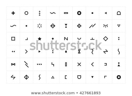 Abstract icon zwarte geïsoleerd witte vingerafdruk Stockfoto © maxmitzu