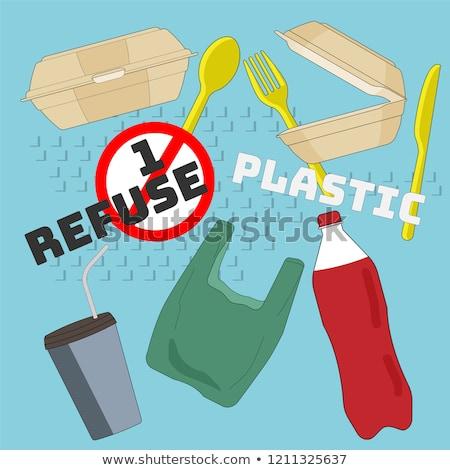 使い捨て コンテナ プラスチック 食品 孤立した 白 ストックフォト © kitch