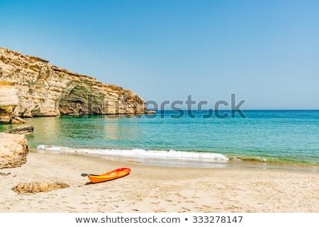 Omán tengerpart kő képek nap természet Stock fotó © w20er