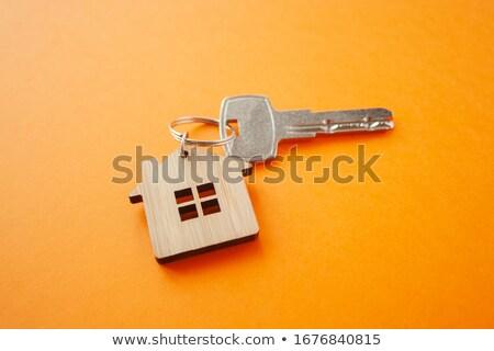 Oranje huis 3D gegenereerde foto hand Stockfoto © flipfine