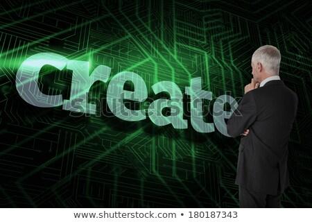 create against green and black circuit board stock photo © wavebreak_media