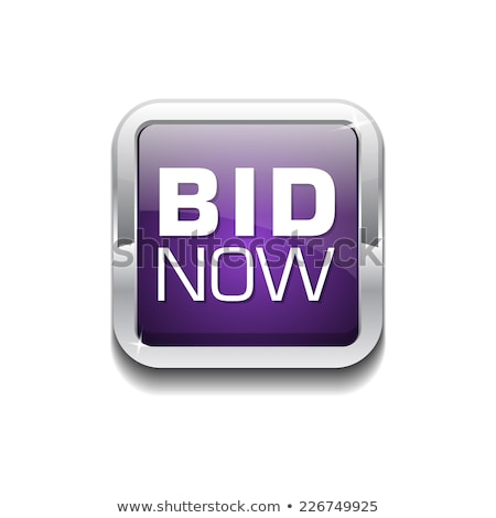 Bid Now Purple Vector Icon Button Stock photo © rizwanali3d