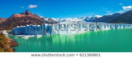 Gletsjer hemel landschap zee berg Blauw Stockfoto © daboost