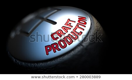 Gear Stick with Red Text Craft Production. Stock photo © tashatuvango